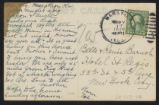 Verso of Hand-Colored Picture Postcard
